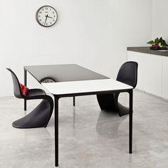 Slim Extendable Glass Dining Table - Klarity