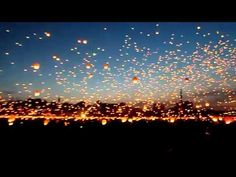 Twinkle twinkle little Chinese lanterns 8,000 flying candles released on shorte