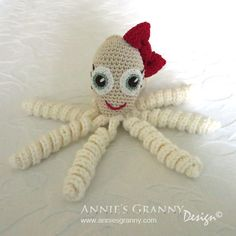 Crochet octopus by Annie's Granny Design, free pattern from Babydjungeln