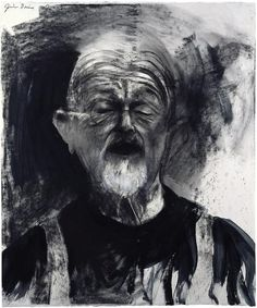 Jim Dine, Singing Hard Times, 2009 Charcoal and enamel 40 x 48 inches 101.6 x 121.9 cm (photo courtesy of: http://www.richardgraygallery.com)