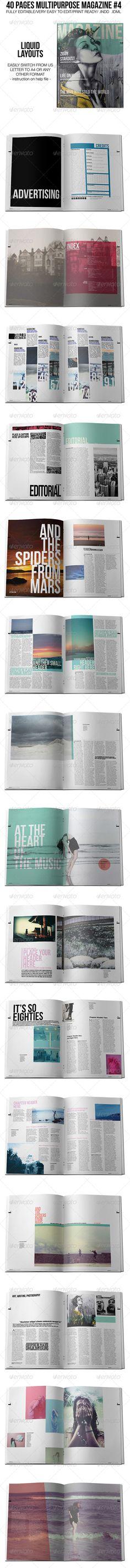 40 Pages Multipurpose Magazine 4  #GraphicRiver