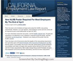California Employment Law Report : Los Angeles Employment Lawyer & Attorney : Anthony Zaller Law Firm : California Employment Law Report - Click to visit blog:  http://1.33x.us/ItMeP7