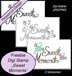 Freebie Digitale Stempel/Digi Stamps -Digi stamp sweet moments