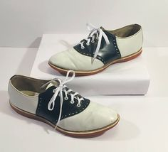 #Vintage VTG 40's WWII era Women's Saddle Oxfords #vintageshoes #Swing #Rockabilly #50'sFashion