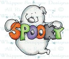 Spooky Ghost - Halloween Images - Halloween - Rubber Stamps - Shop