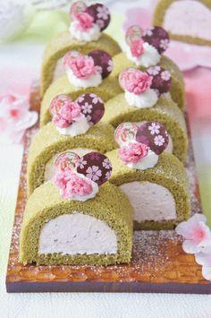「桜と抹茶のプレミアムケーキ」nyonta | お菓子・パンのレシピや作り方【corecle*コレクル】