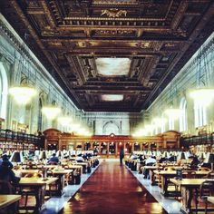 New York Library. I could lose myself in this place <3