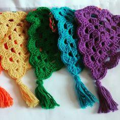 Crochet rainbow garland!!!