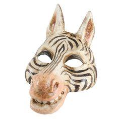 Zebra animal mask from Balocoloc Venetian Masks.