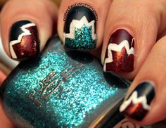 Nail art with Pure Ice polishes! ~ Confessions of a Sarcastic Mom