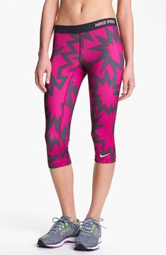 Nike 'Pro' Print Capris available at #Nordstrom
