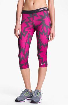 Nike 'Pro' Print Capris | Nordstrom