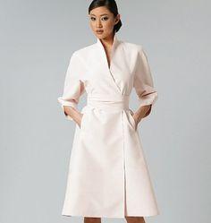 Vogue - 1239 Getailleerde jurk met raglanmouw en ceintuur | Naaipatronen.nl | zelfmaakmode patroon online