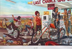 1960s Outlaw Biker Culture  Poster published by Ed Roth in 1967. The artist is probably Dave Mann.