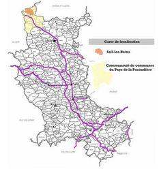 Localisation géographique de Sail les Bains