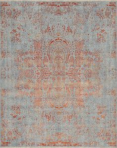 Nirvana Series - 158026 Nirvana Couture Enchantment - Samad - Hand Made Carpets Modern Interior Design, Interior Design Living Room, Power Loom Machine, Orange Rugs, Blue And Copper, Transitional Rugs, Home Rugs, Modern Rugs, Nirvana