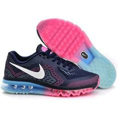 huge discount ea771 33bb9 Authentic Nike Shoes For Sale, Buy Womens Nike Running Shoes 2014 Big  Discount Off Nike Air Max 2014 Womens Dark Blue Metallic White Pink Shoes    -