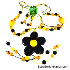 Beautiful!! the perfect combination in our products ‪#‎tagua‬ ‪#‎jewelry‬ ‪#‎HappyThursday‬