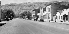 Main Street in Moab circa 1950. (Photo courtesy Utah State Historical Society)