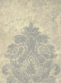Baroque Damask Metallic Grey and Silver Wallpaper