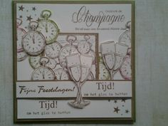 Ontkurk de champagne tel af naar een bruisend nieuw jaar(nieuwe stempels van different colors)