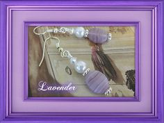 Frosted Lavendar Glass  Earrings by joanne79 on Etsy, $16.00 #onfireteam #lacwe #handmade #earrings #jewelry