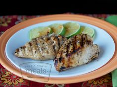 Honey Lime Chicken. Use thighs, wait to add lime juice until about 1 hr before cooking time