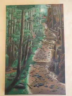 Forest Canvas 80x100 cm Oil Paint By : Tara Batara