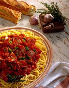 Leczo - przepis - ze spagetti