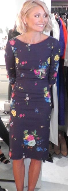 ♥♥♥Kelly Ripa♥♥♥ Kelly Ripa in an Erdem floral dress. LIVE with Kelly and Michael Fashion Finder.