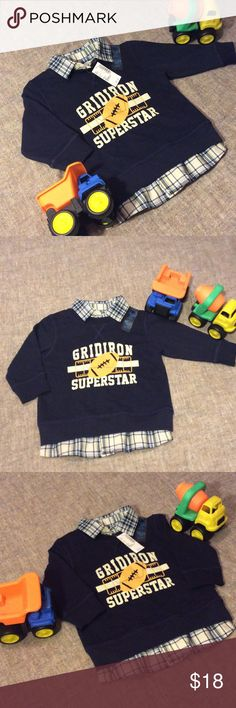 💙Brand New💙Children's Place Long Sleeve💙 💙New With Tags💙 Firm on Price! Children's Place 18-24 Month Baby Boy Long Sleeve. It's made to look like two shirts but it's only one. Brand New Never Worn. My son out grew it before he could wear it. If you have any questions please feel free to ask. Also, Thank you so much for visiting my closet! Leave your posh name below so I can check out your closet as well. Thanks💜💜🤗 The Children's Place  Shirts & Tops Tees - Long Sleeve