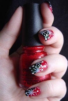 Christmas Snow Flakes - Nail Art Gallery by nailsmag.com