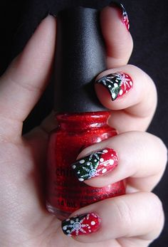 Christmas Snow Flakes - Nail Art Gallery by nailsmag.com