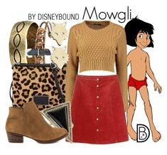 """Mowgli"" by leslieakay ❤ liked on Polyvore featuring Gypsy SOULE, Marc by Marc Jacobs, Monki, House of Harlow 1960, Jessica Simpson, Ginette NY, disney and disneybound"