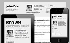 Gray - Mobile friendly online Resume by Cloud CV