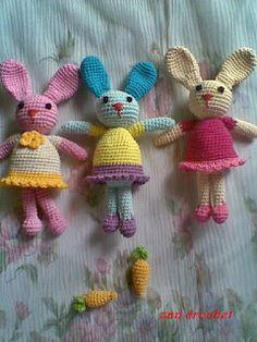 """Amigurumi Bunny """"Si Kelmeerdi"""" - Dutch Translation ~ Zan Crochet, #haken, gratis patroon, Nederlands, knuffel, speelgoed, konijn, #haakpatroon"""