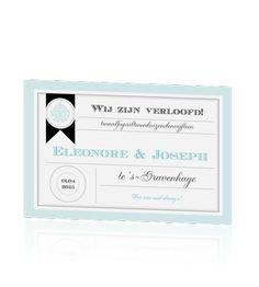 Chique verlovingskaart in mint