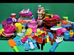 cooking set toys for kids : kitchen toys set : large amount collection o. Toy Kitchen Set, Best Kids Toys, Doll Hair, Miniatures, Hair Coloring, Dolls, Cooking, Collection, Check