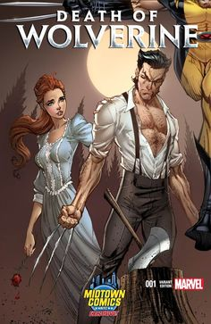 Death of Wolverine Vol 1 #1 (2014) variant cover by J Scott Campbell (Part 1 of 4)