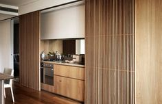 One central park Sydney. Kitchen integrated into living room.