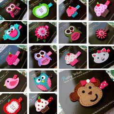 Hair Clips or Barrettes - U Pick any 2 for $7.00, via Etsy.