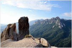 #Ulsanbawi Rock as seen from Sinseondae Peak | Goseong, Gangwon Province, Korea | 울산바위