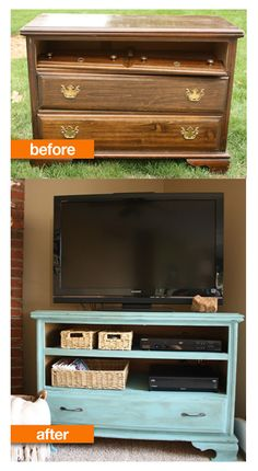 Great idea for an old chest of drawers.