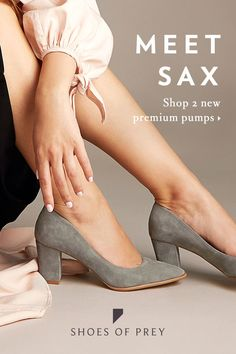 Meet Elda and Sax — our new pumps with three luxe features making them more desirable than ever: Angled block heel; Pretty Shoes, Beautiful Shoes, Cute Shoes, Me Too Shoes, Prom Shoes, Dance Shoes, Walk In My Shoes, Crazy Shoes, Pumps Heels