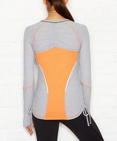 lucy Silver & Papaya Dashing Stripe Top by lucy #zulily #zulilyfinds