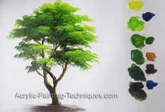 How to paint a tree in Acrylic lesson 5 – Acrylic Painting Techniques