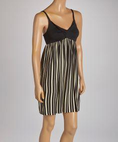 Black Stripe Empire-Waist Dress | something special every day