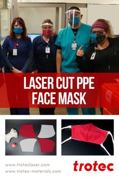 By making our own masks, it will help ease the shortage to hospitals, and reserve the supply of and medical-grade for those on the front lines. Trotec Laser, Hospitals, Laser Cutting, Masks, Medical, Face, How To Make, Faces, Medicine