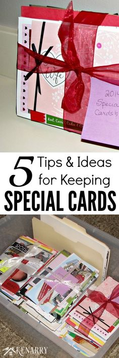 These are great organizing and tips and storage ideas for keeping special cards and notes you get during the year for birthdays, anniversaries, holidays, and thank you cards. Paper Crafts, Diy Crafts, Card Sentiments, Card Storage, Organization Hacks, Organization Ideas, Storage Ideas, Craft Tutorials, Getting Organized