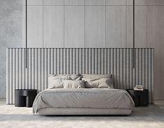 Bedroom Color Schemes, Bedroom Colors, Internal Design, Modern Bedroom Decor, Contemporary Apartment, New Room, Bed Design, Master Bedroom, Behance
